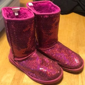Youth girls fur lined boots